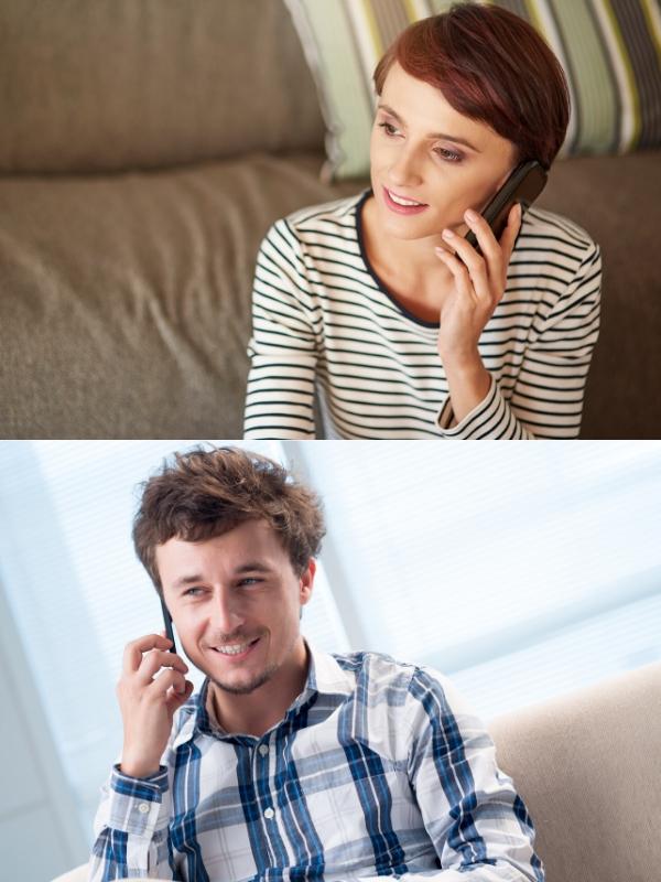 Prata i telefon